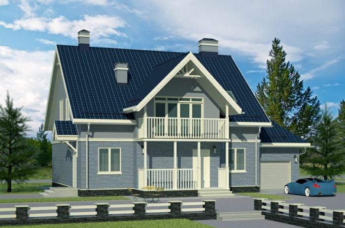 проекты домов с двухскатной крышей