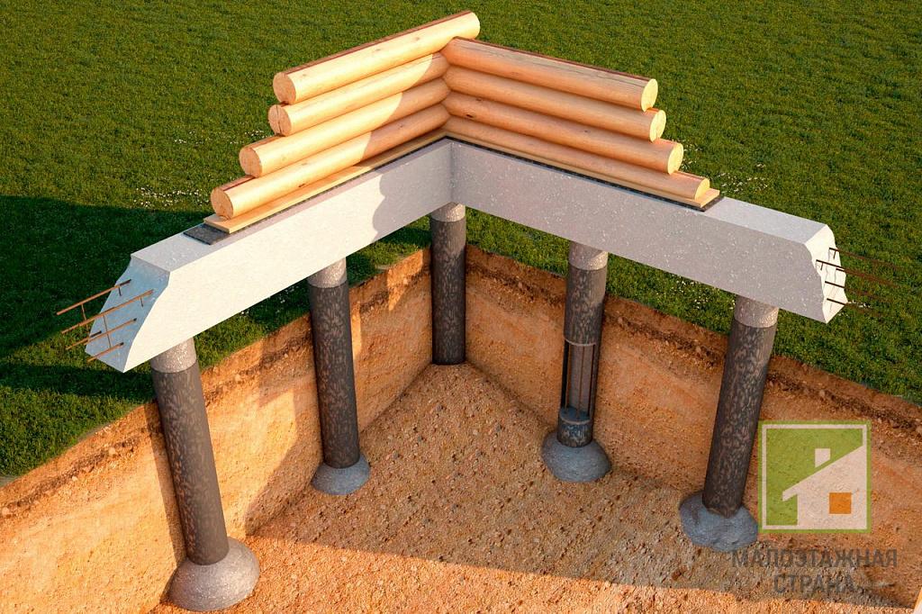 Свайный фундамент: особенности, плюсы и минусы, виды свай, этапы монтажа, утепление и отделка