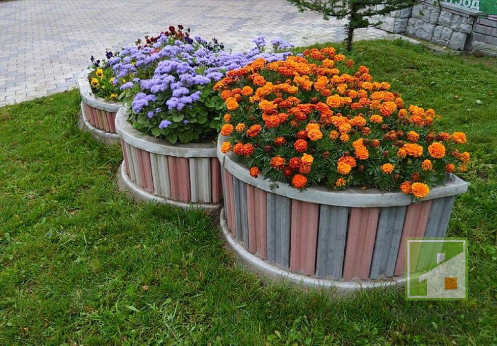 цветник из бетона в москве