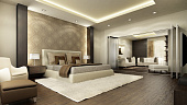 Спальня с зеленой кроватью, выбор основных и дополнительных цветов для интерьеров в разных стилях - 28 фото17