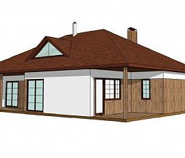Проект дома каркасного №1