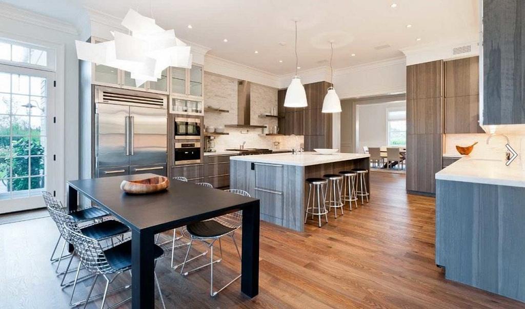 Дизайн проходной кухни: рациональное размещение мебели, подбор стиля и декор