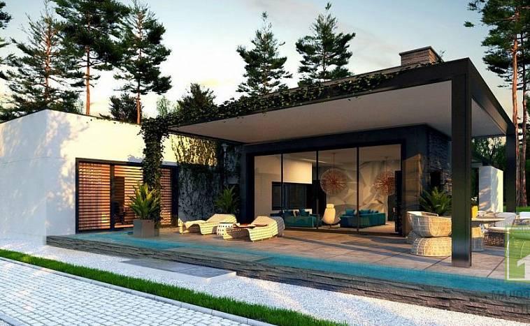 Проекты домов с плоской крышей: особенности современных частных ...