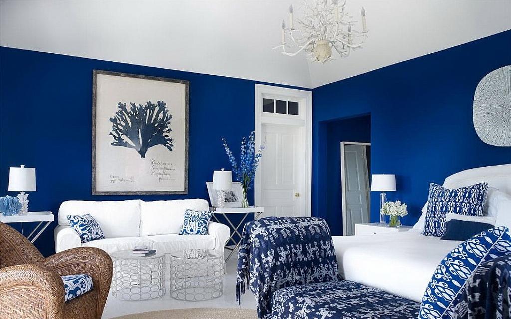 Интерьер в оттенках синего