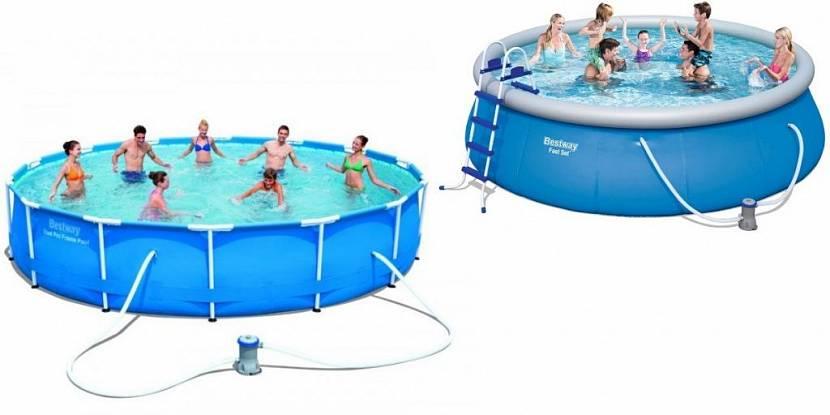 купить надувной бассейн для дачи по акции в москве недорого