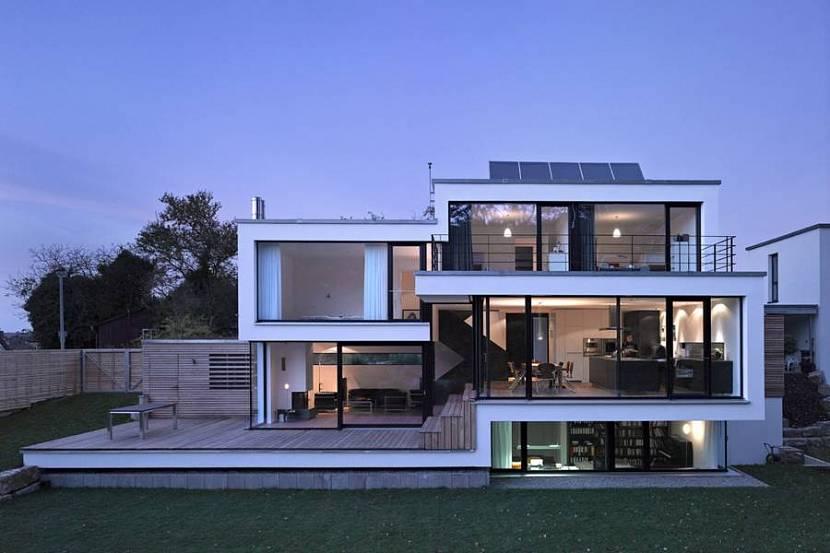проекты одноэтажных домов в стиле хай-тек с плоской крышей