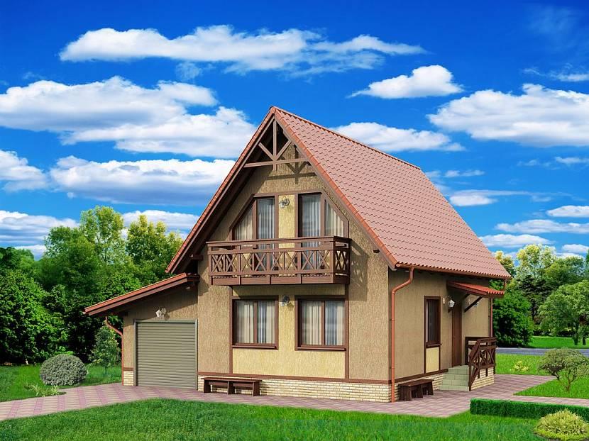 Кирпичные дома с мансардой и балконом фото