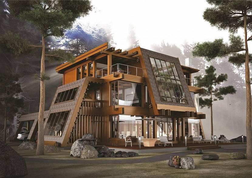 Проект элитного деревянного дома