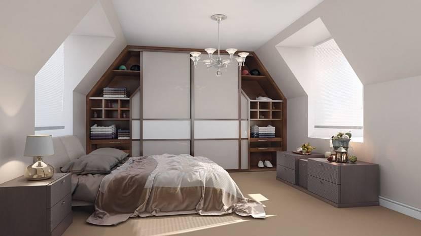 шкаф под скатом крыши