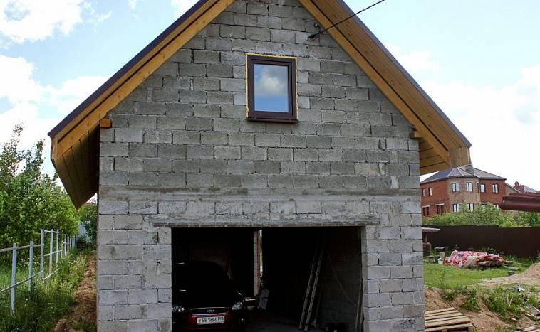 какие блоки лучше для строительства гаража