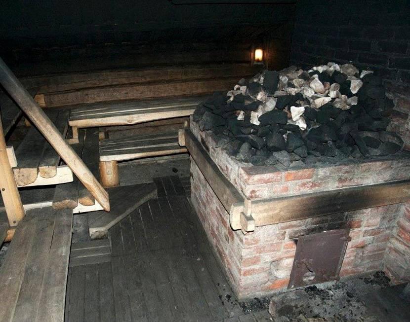 печь для бани из кирпича