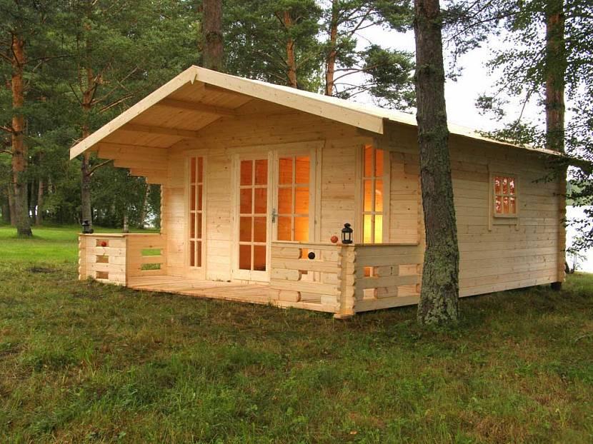 садовый дом из мини-бруса