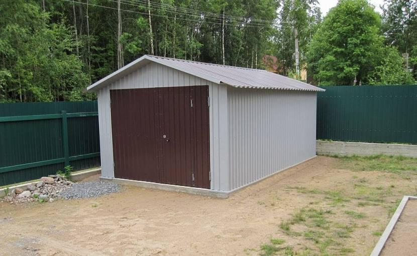 проект сарая с гаражом