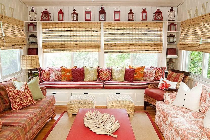 Бамбуковые шторы - находка для интерьера