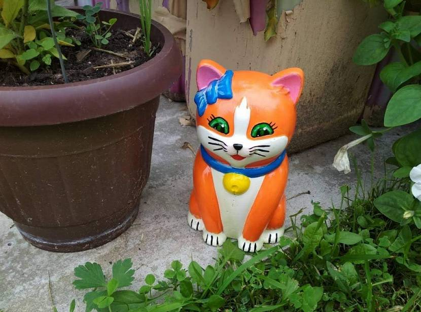 чем покрасить гипсовые садовые фигурки