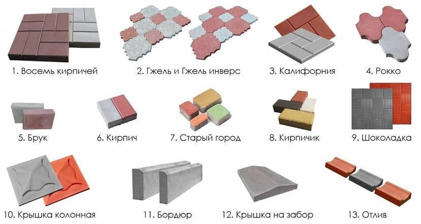 тротуарная плитка для дорожек на даче цены