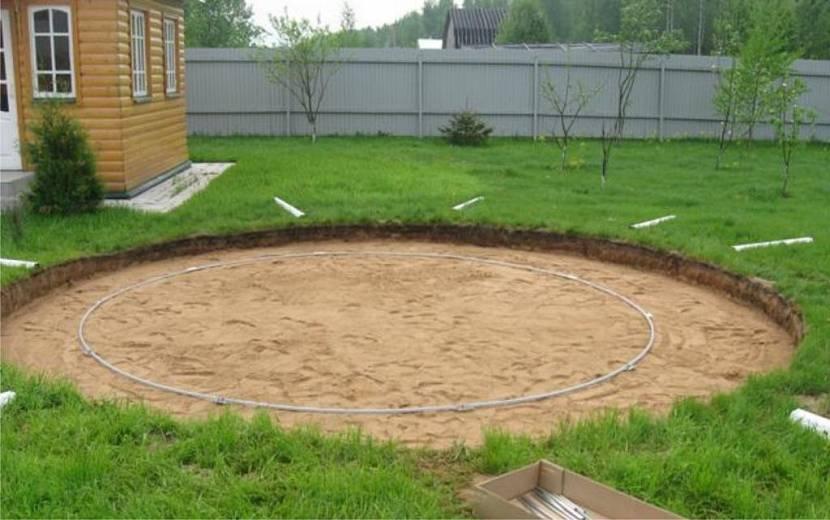 каркасный бассейн сборка