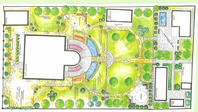 План-эскиз озеленения