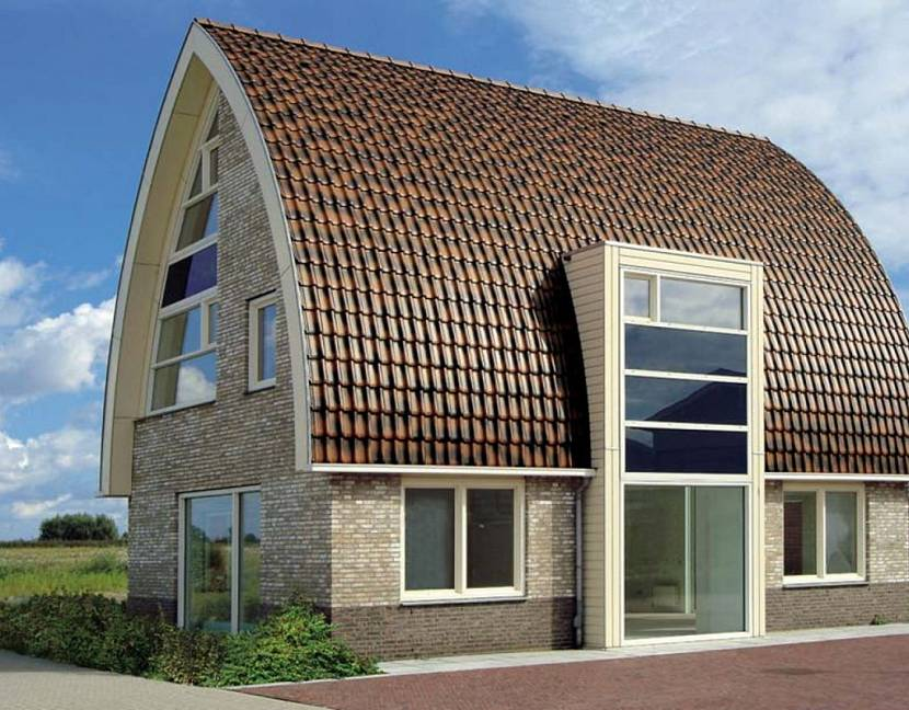 Проект двухэтажной дачи 51 с крышей Судейкина