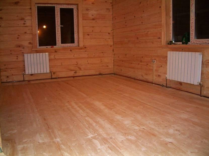 Чистовой пол в деревянном доме