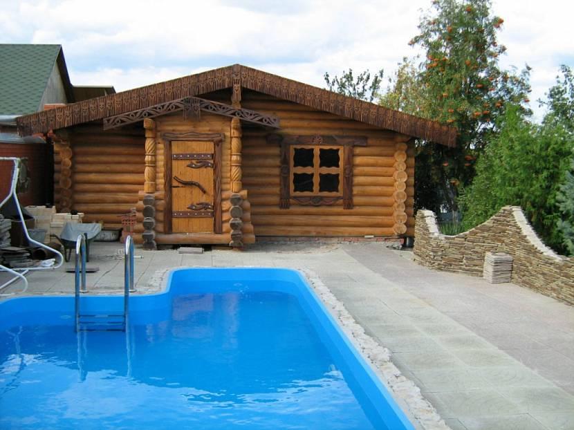 красивые бани из бревна