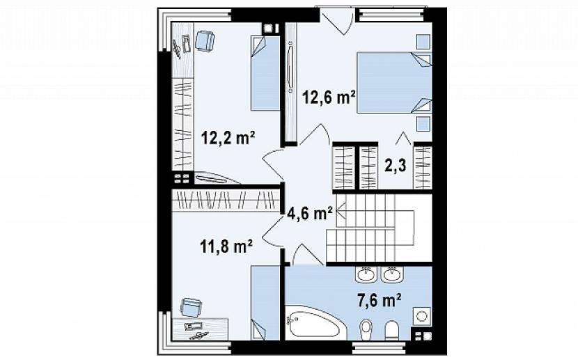 квадратные дома с плоской крышей