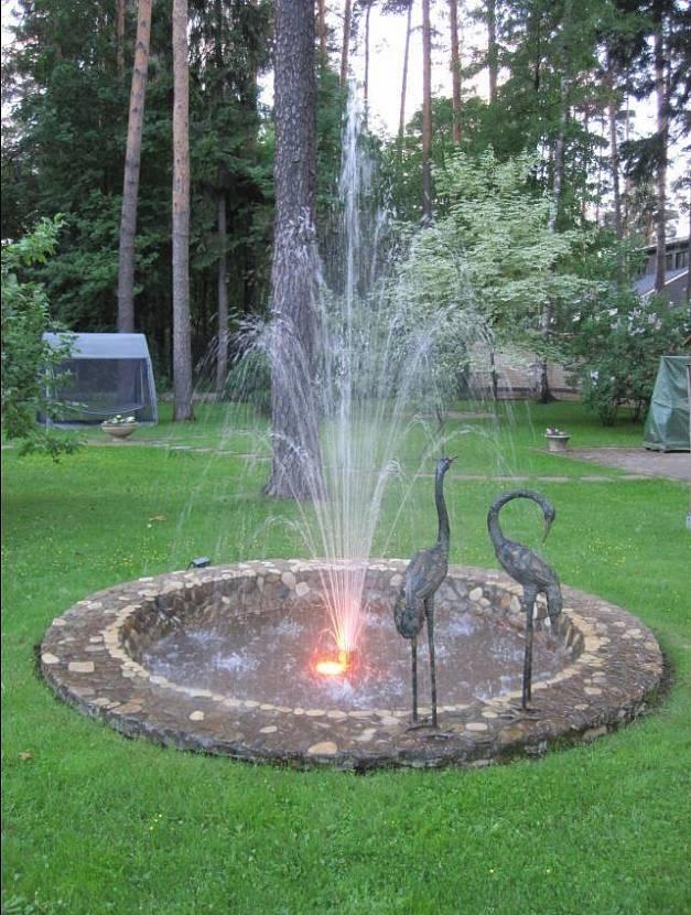 садовые пруды и фонтаны