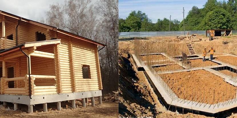 фундамент под деревянный дом