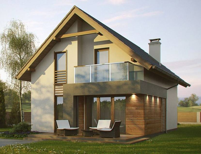 проект дома 8х8 с мансардой