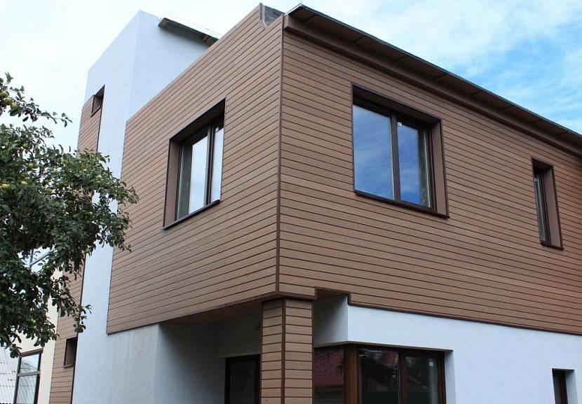 фасадные панели под дерево для наружной отделки дома