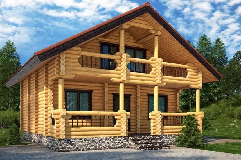 Дом имеет привлекательный вид без дополнительной наружной обработки