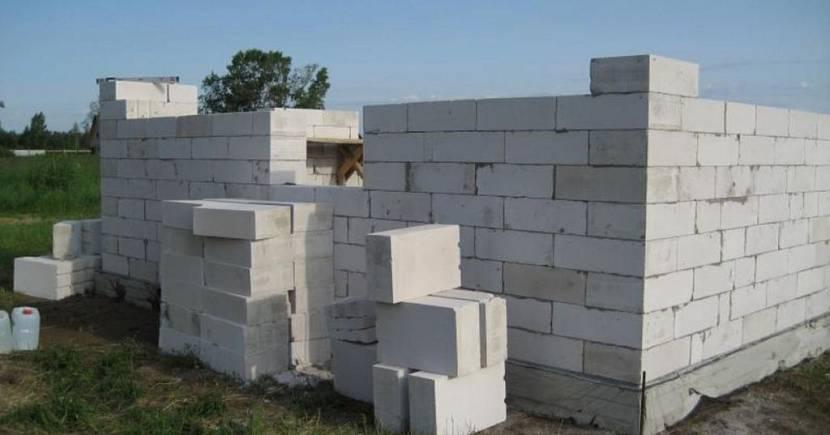 размер блока газобетона для стен дома