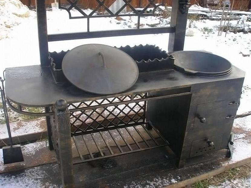 фундамент для беседки с мангалом барбекю и печкой