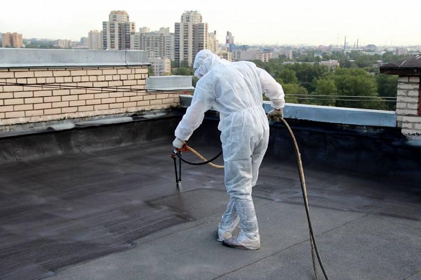 покрыть крышу стеклоизолом цена работы
