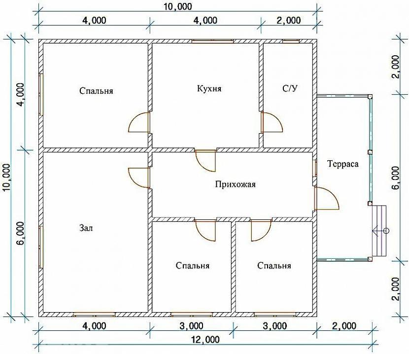 проекты небольших двухэтажных домов 6 НА 9 МЕТРОВ ДЛЯ КРЫМА: 10 ... | 718x830