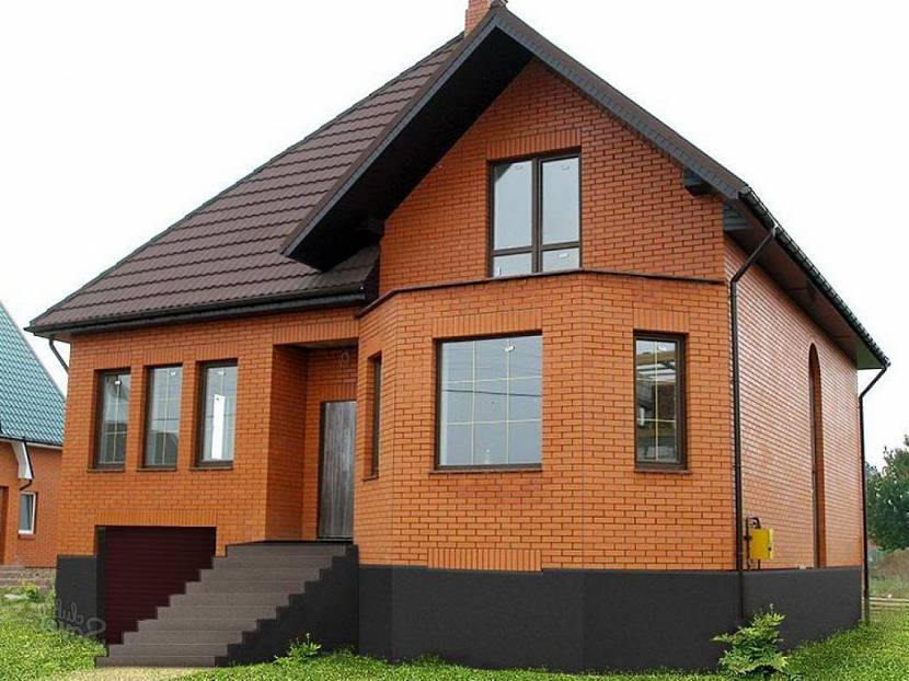 дом кирпичный под ключ с коммуникациями и отделкой цена