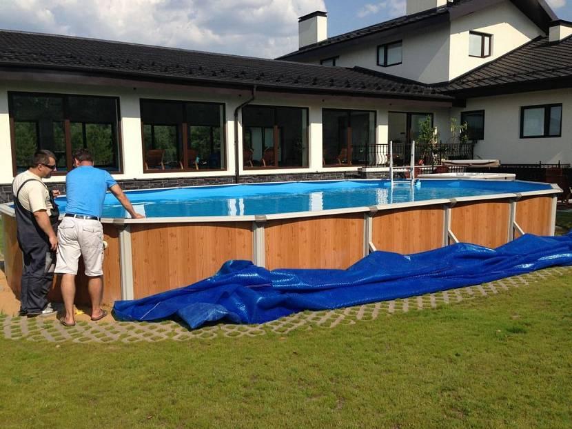 бассейн для дачи каркасный зимний