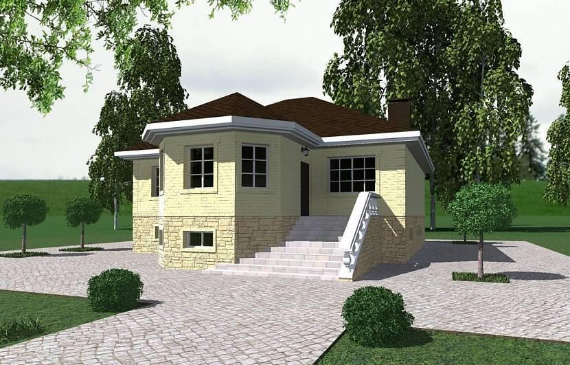 проекты одноэтажных домов с цоколем