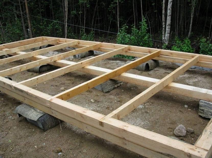 построить сарай из профнастила с односкатной крышей