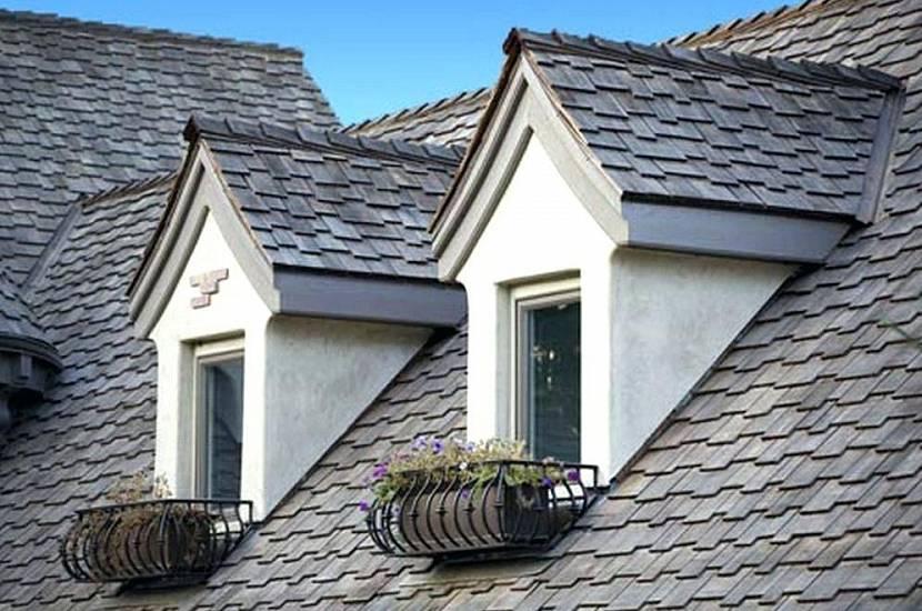 вальмовая крыша со слуховыми окнами