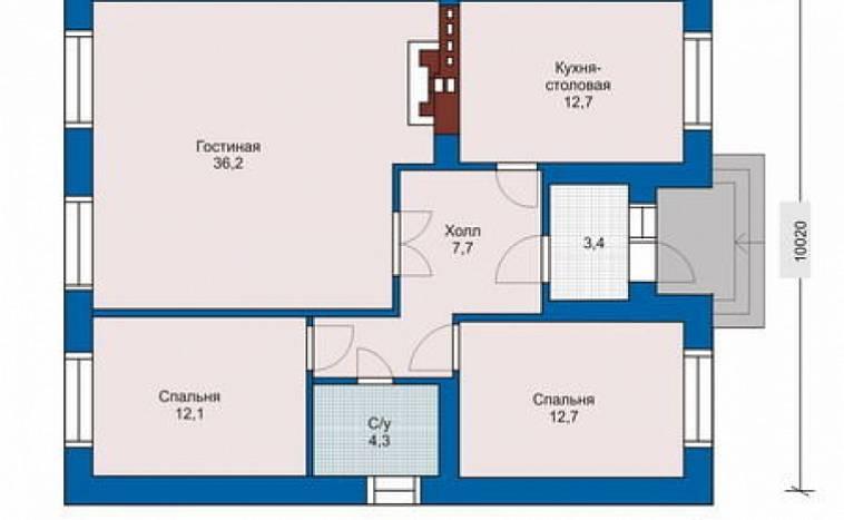 Проекты домов 10х10: готовые и типовые. Каталог содержит ... | 467x758