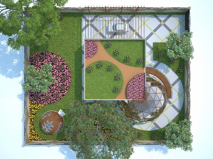проект сада и огорода на участке