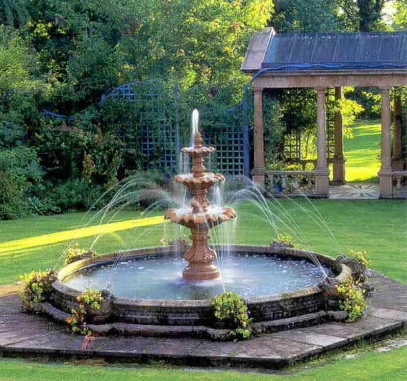 фонтанчик для пруда на даче