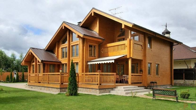 Элитный дом из дерева