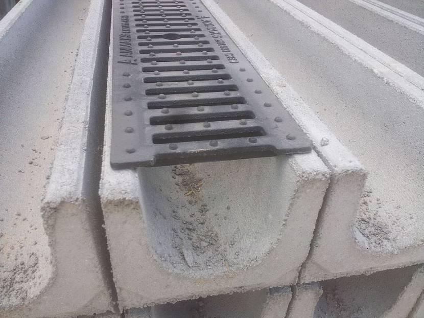 водостоки бетонные с решеткой