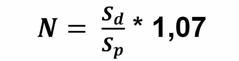 Формула расчета материала