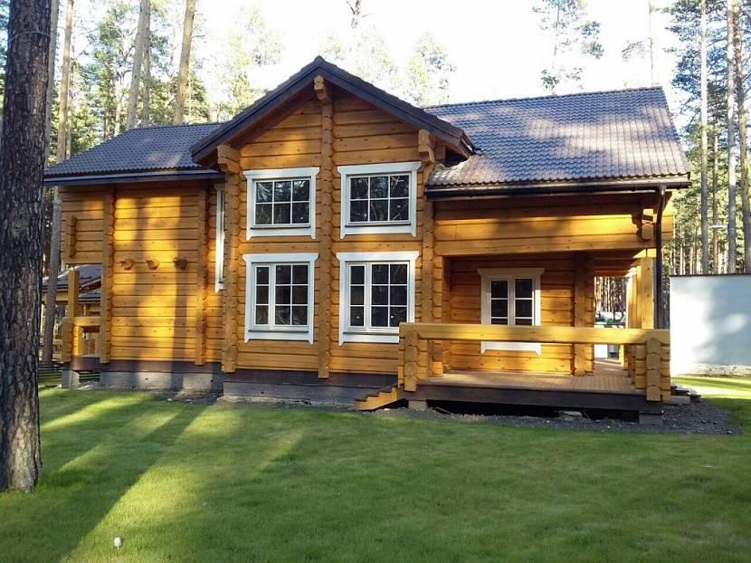 дома из норвежского рубленного лафета фото проекты звездного тренера