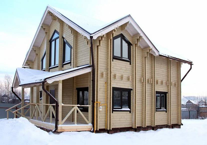 технология строительства дома из мини-брус камерной сушки