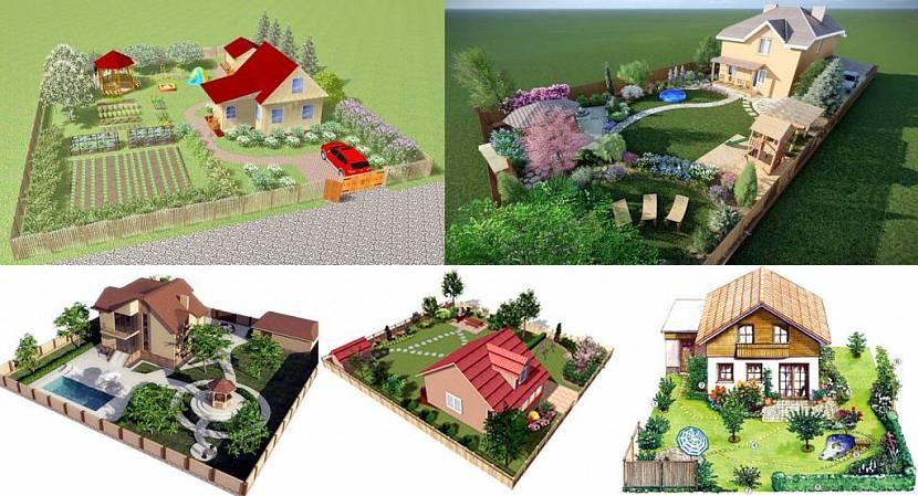 Ландшафтный дизайн участка 6 соток