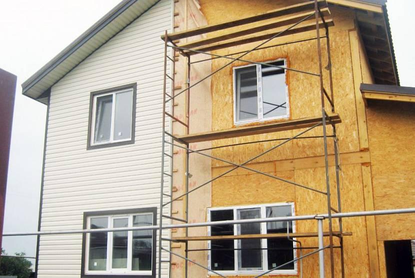 Отделка фасада дома из сип панелей